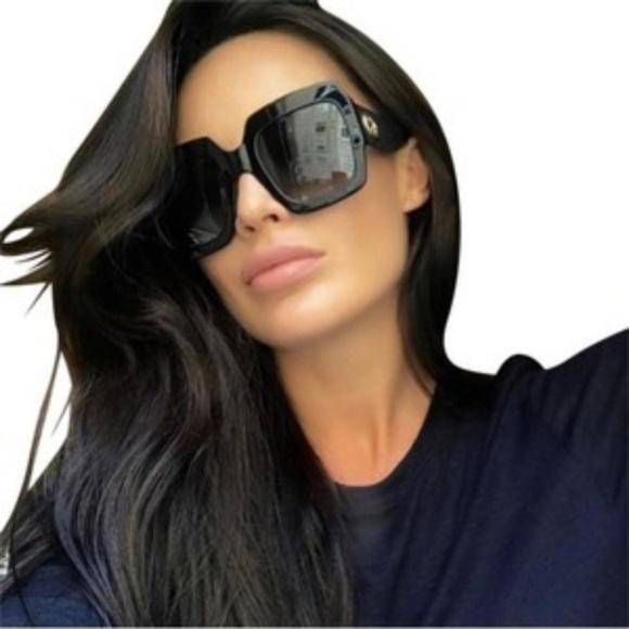 65d4cf8907c Gucci Sunglasses Black Glitter Arms Black